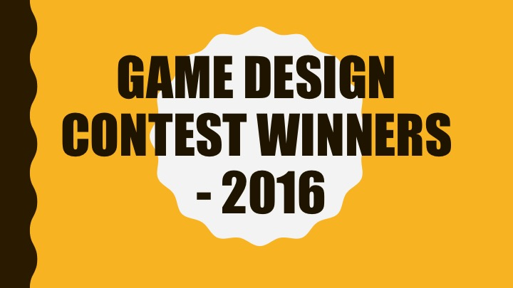 Innovation Hub Game Design Competition-2016