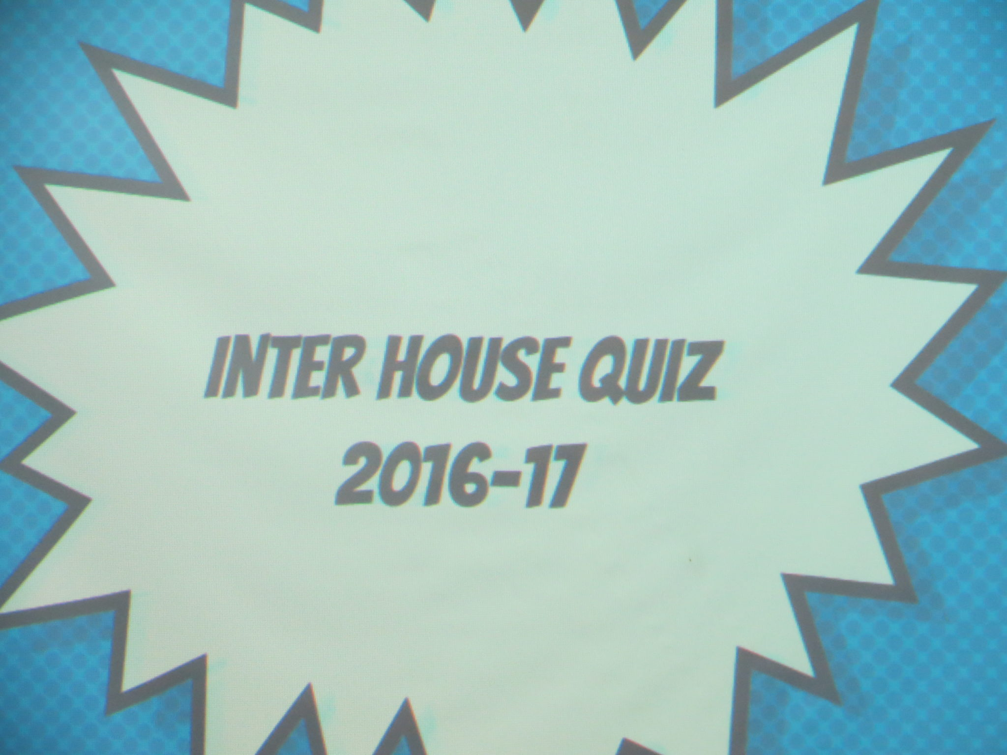 Inter House Quiz 2016-17