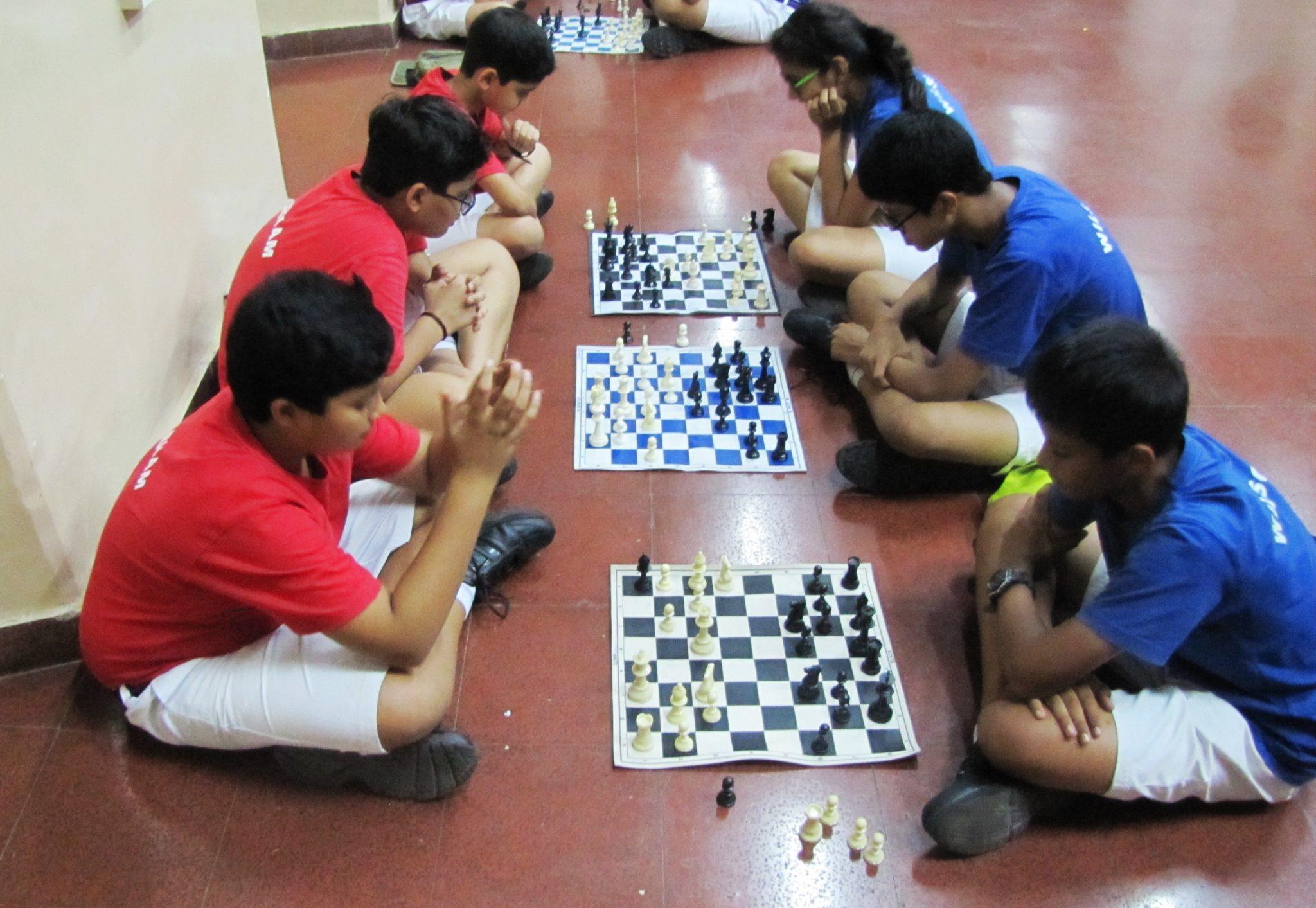 Inter House 9th Std Chess matches Barham and wilson
