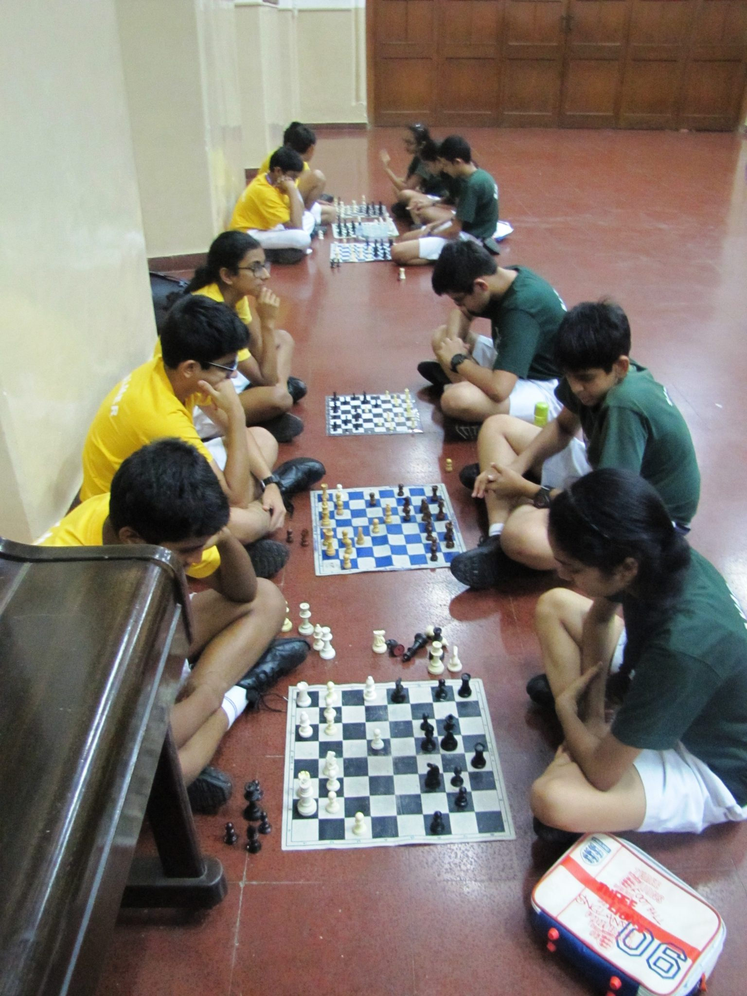Inter House 9th std Chess Matches Palmer and savage